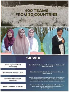 MAHASISWA FISIKA UBB RAIH SILVER MEDAL DALAM ISIF 2020